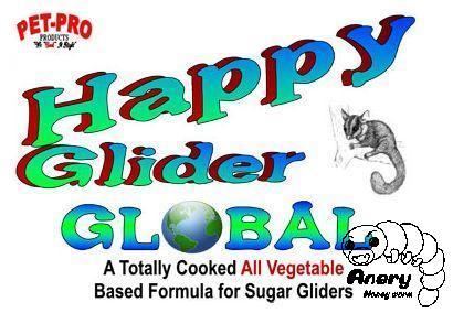 Pet-Pro HappyGlider GLOBAL〈フクロモモンガフード〉これなら食べるかも 甘い匂いの基本食 ハッピーグライダー・グローバル